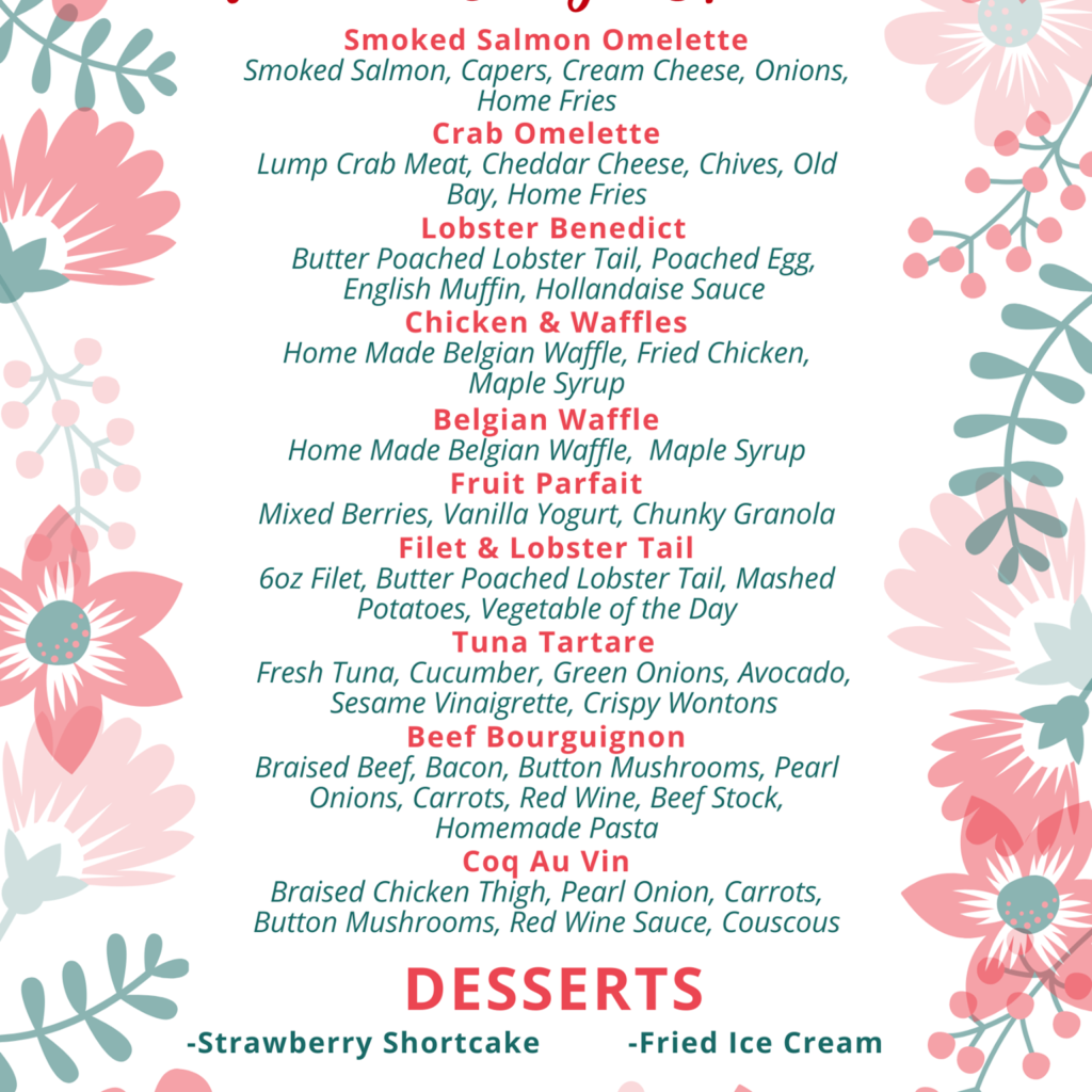 mothers day dining specials at tony locos